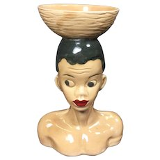 Vintage African Tribal Head Vase