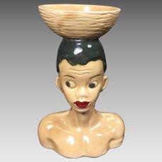 Vintage African Tribal Head Vase