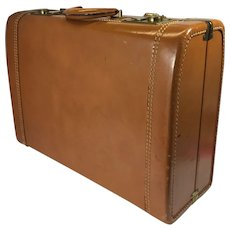 Vintage Leather Suitcase Zephyrlite Brown