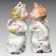 Vintage Ceramic Angels Kissing Shelf-Sitter