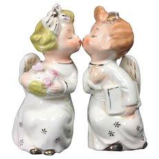 Vintage Ceramic Angels Kissing Shelf-Sitter