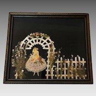 Vintage Ribbon Art Doll Art Deco Bride Doll Garden Trellis