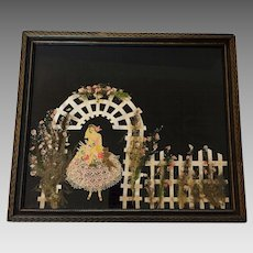 Vintage Ribbon Art Doll Art Deco Bride Doll Garden Trellis