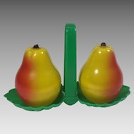 Vintage Salt & Pepper Shakers Pears Plastic Tray