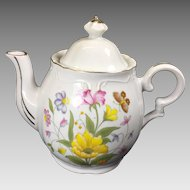 Vintage Musical Tea Pot Flowers Tea for Two