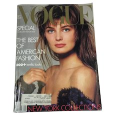 Vintage Vogue Fashion Magazine BIG Septemeber 1986