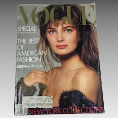 Vintage Vogue Fashion Magazine BIG Septemeber 1986