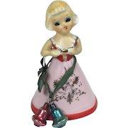 Vintage Bell Christmas Valentine Girl Enesco Japan
