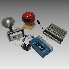 Vintage Christmas Ornaments Retro Electronic Media Music Walkman Ceramic