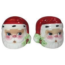 Vintage Christmas Santa Salt Pepper Shakers