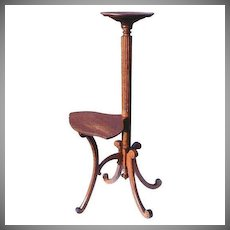 Victorian Oak  Pedestal Ferner Double Tier Unique Antique Vintage