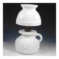 Imperial Milk Glass Tulip and Cane Bundling Lamp Miniature