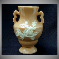 Vintage Weller Art Pottery Vase Cameo