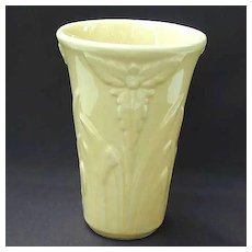 Shawnee Art Pottery Floral Vase - Yellow - Vintage