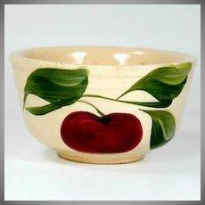 Watt Pottery Apple Pattern - Tiny Ribbed Mixing Bowl #04 - 1950s
