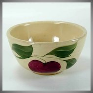 Watt Pottery Apple Pattern - Small Ribbed Mixing Bowl #05 - 1950s
