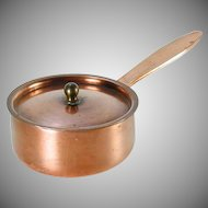 Jos. Heinrichs Copper Sterling Tiny Covered Sauce Pot - High Quality