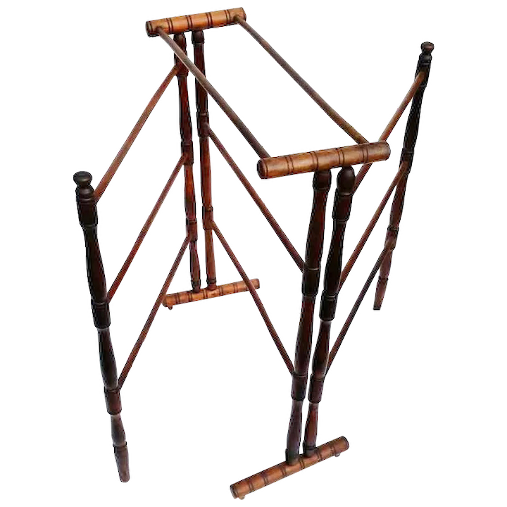 Antique Drying Or Quilt Folding Rack