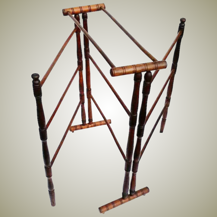 Antique Drying Or Quilt Folding Rack Walnut Wood 19th Century Unique Antiques By Charla Ruby Lane
