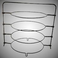 Vintage Wire Pie Rack 4 Tier Cooling Storage Wirework Stand Circa 1920s