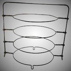 Vintage Wire Pie Rack 4 Tier Cooling Storage Wirework Stand Circa 1920s