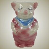 Vintage Shawnee Pottery Smiley Pig Razor Blade Bank