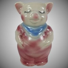 Vintage Shawnee Pottery Smiley Pig Razor Blade Bank