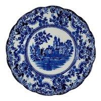 SET 2 Flow Blue Dinner Plate TOGO River Scene  F. Winkle England Colonial Pottery