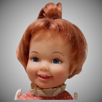 Vintage Ideal Cinnamon Doll 1970s Crissy Family Grow Hair