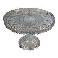 Antique Cake Stand Pedestal United States Glass Co. Manhattan AKA New York Ca 1902
