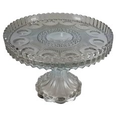 Antique Cake Stand Pedestal United States Glass Co. Manhattan AKA New York Ca 1902