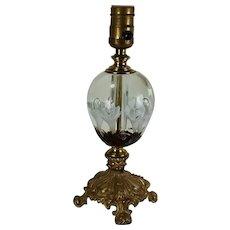 Fabulous Vintage St  Clair Mid-Century Hand Blown Table Lamp