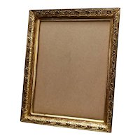 Vintage Gold Gilt Brass Photograph Frame Embossed Flowers & Lattice
