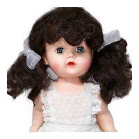 Vintage 1950s Hard Plastic Toddler Walker Doll 10 Inch with Full Wig