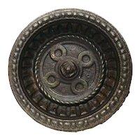 Antique Cast Iron Round Umbrella Stand Drip Tray Pan