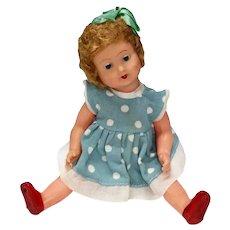 Vintage Plastic Celluloid Doll Finger Wave Wig 1920s Original Clothing