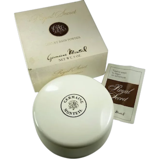 Vintage Germaine Monteil Royal Secret Luxury Bath Powder Large Sealed 9 Oz. With Box