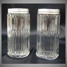 Hoosier Cabinet Glass Mission Spice Jar Set 2 Vintage Original