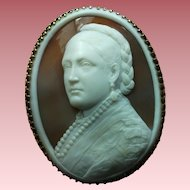 Museum Quality Rarest Victorian Shell Cameo Brooch of (probably) Victoria the Princess Royal by Pio Siotto