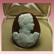 Museum Quality Rarest Victorian Shell Cameo of Queen Elena of Italy Cased