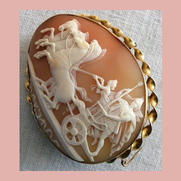 Magnificent Victorian Museum Quality Cameo Brooch of Alexander the Great