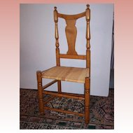 American Maple Splat Back Side Chair  Ca.1790