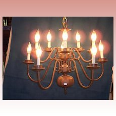 Federal Style Brass Chandelier
