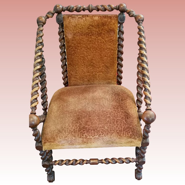 George Hunzinger Rare Antique Arm Chair - George Hunzinger Rare Antique Arm Chair : Holly Meadows Antiques