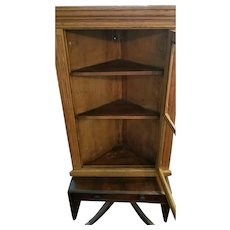 Early American Wall Corner Cabinet