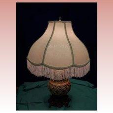 Majolica Table Lamp