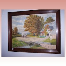 Country Scene Oil on Canvas