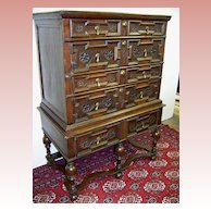 Extraordinary William and Mary Period High Boy Chest on Stand Ca. 1690