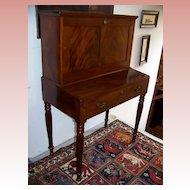 Period Sheraton Empire Mahogany Drop-Front Desk Ca. 1820