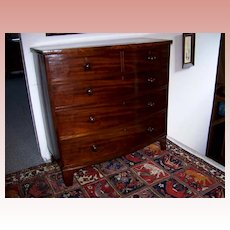 Federal Mahogany Bow Front  5 Drawer Chest Ca. 1830